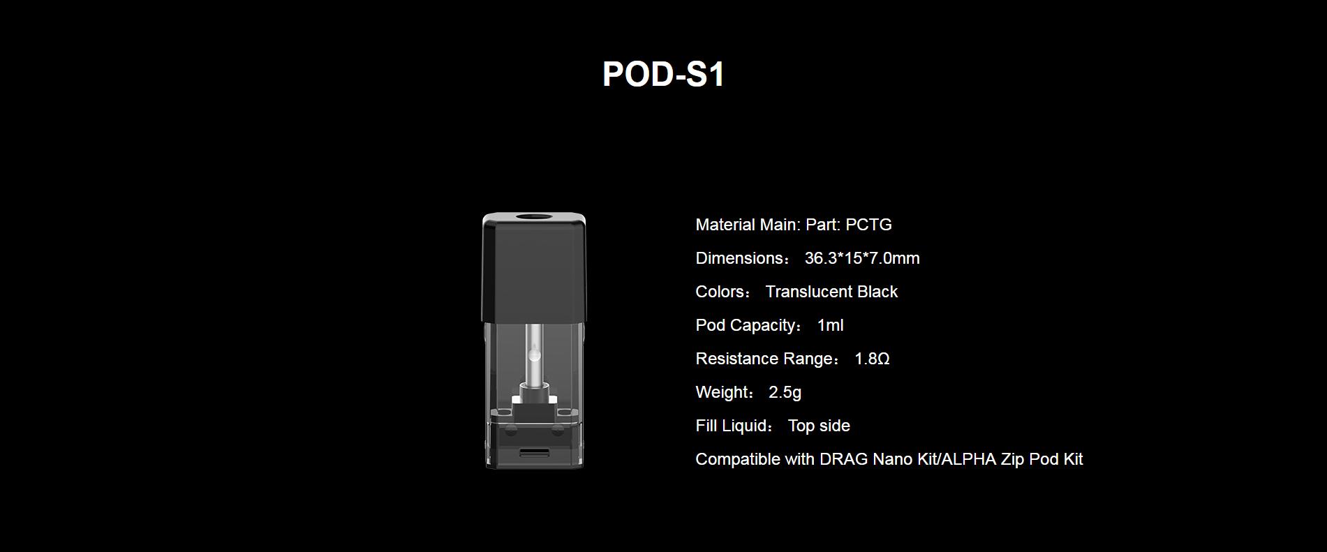 DRAG Nano POD-S1