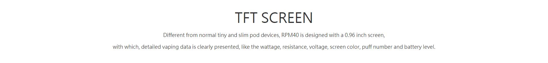 ელექტრო სიგარეტები საუკეთესო ფასად RPM40 best pod kit