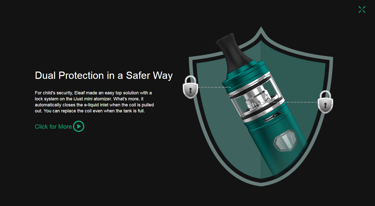 Dual Protection in a Safer Way ijust mini