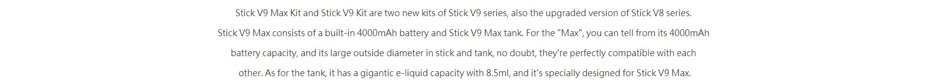 stick v9 max kit
