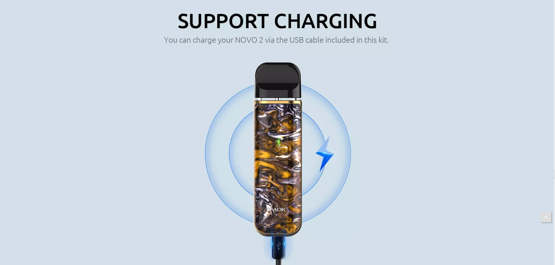 novo support charging