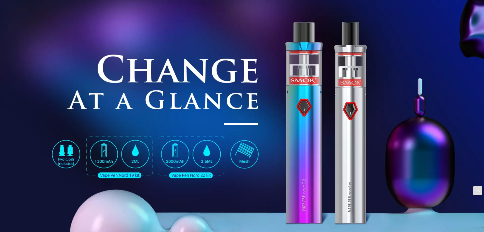 VAPE PEN Nord 19 and 22