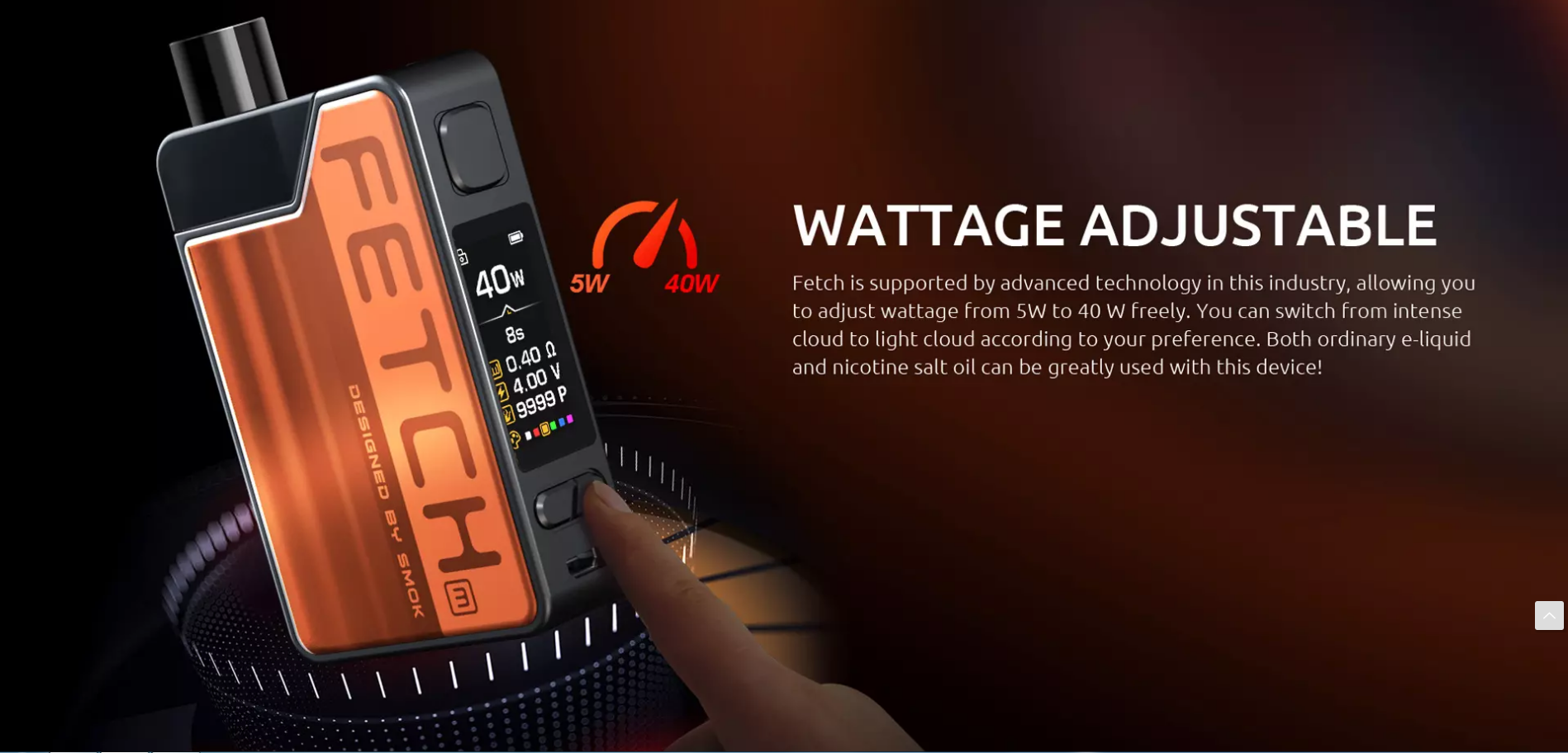 WATTAGE ADJUSTABEL