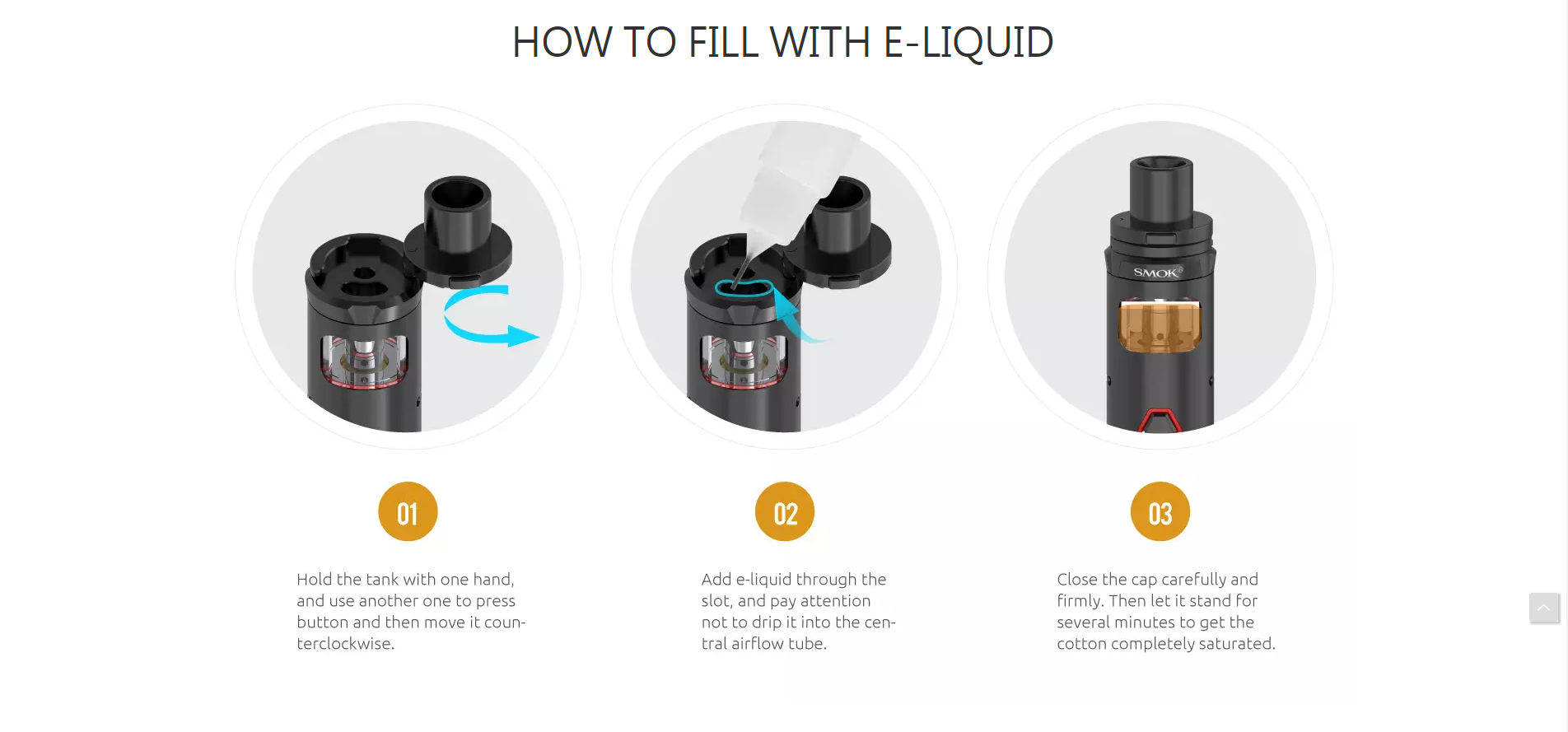 e-liquid on electronic cigarette