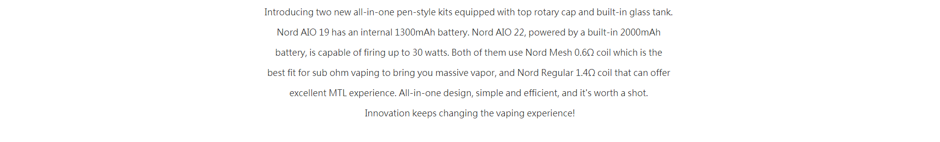 Nord AIO 22, powered by a built-in 2000mAh