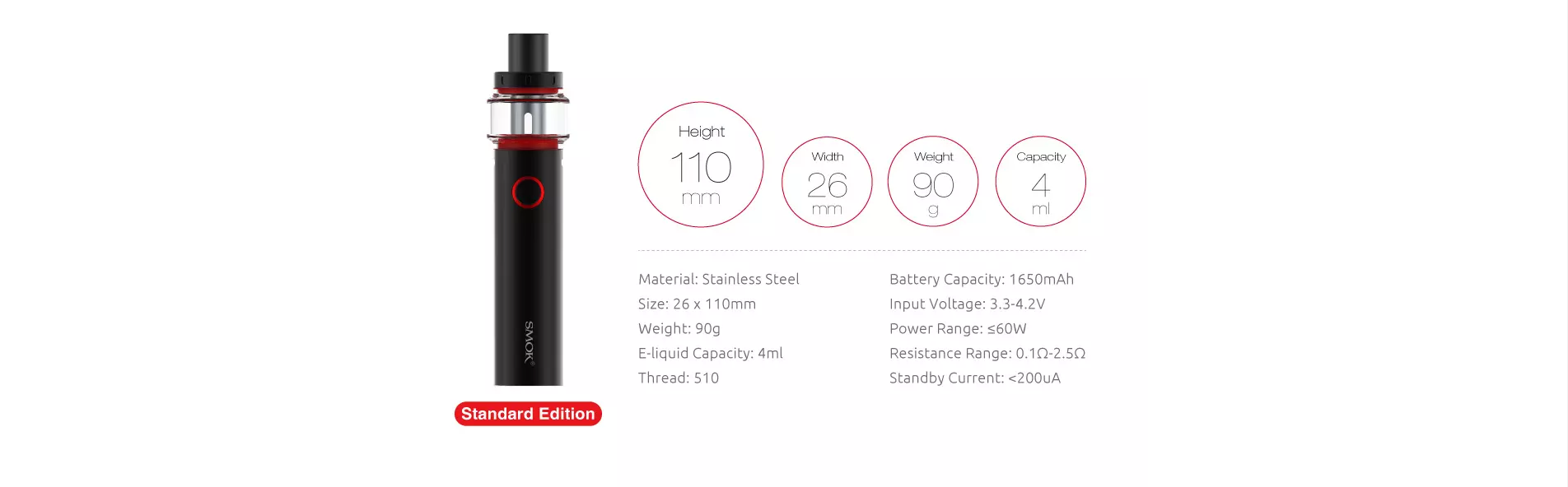 pen 22 1680 mah battery