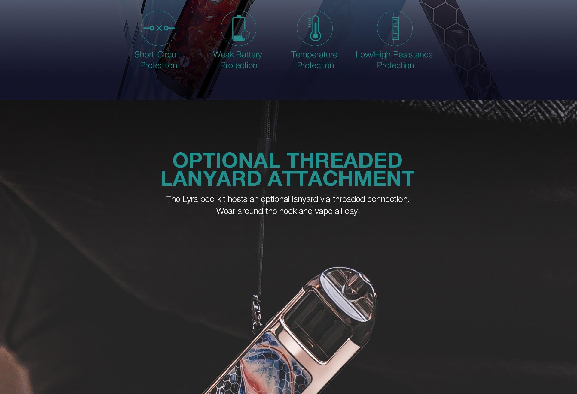 optional lanyard