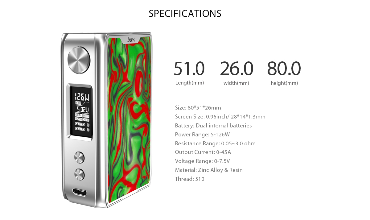 ijoy specifications