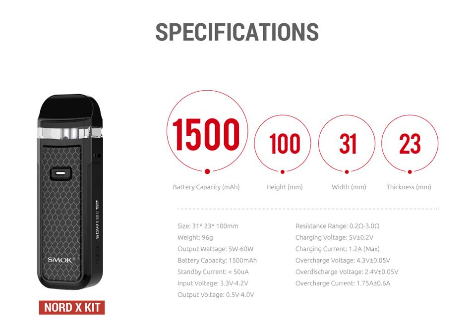 SMOK Nord X Kit 1500mAh