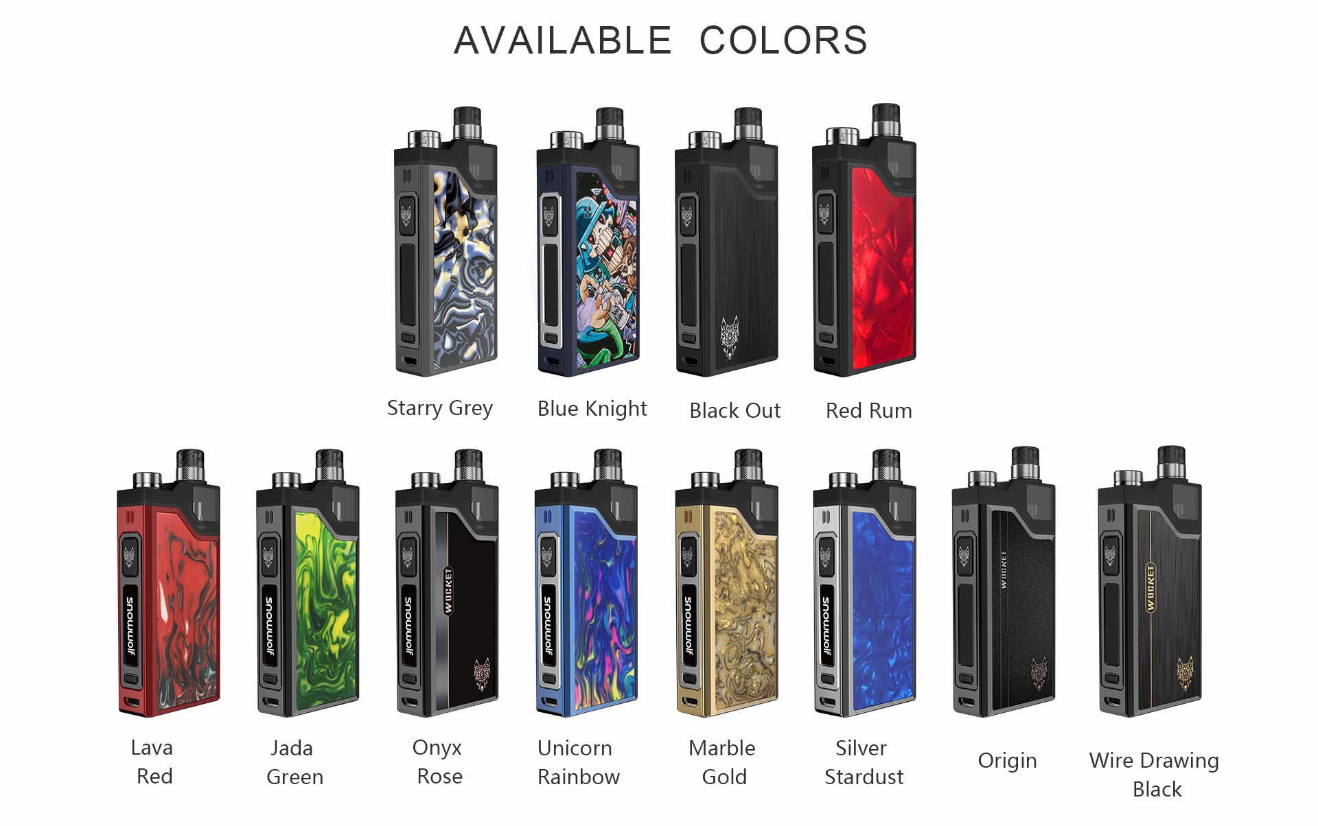 Sigelei Snowwolf Wocket Pod System Kit
