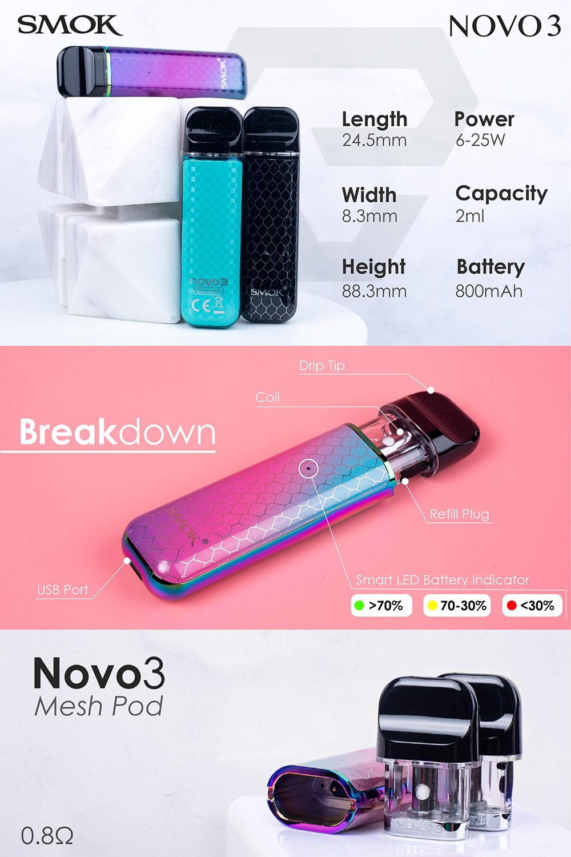 SMOK Novo 3 Pod Kit 800mAh