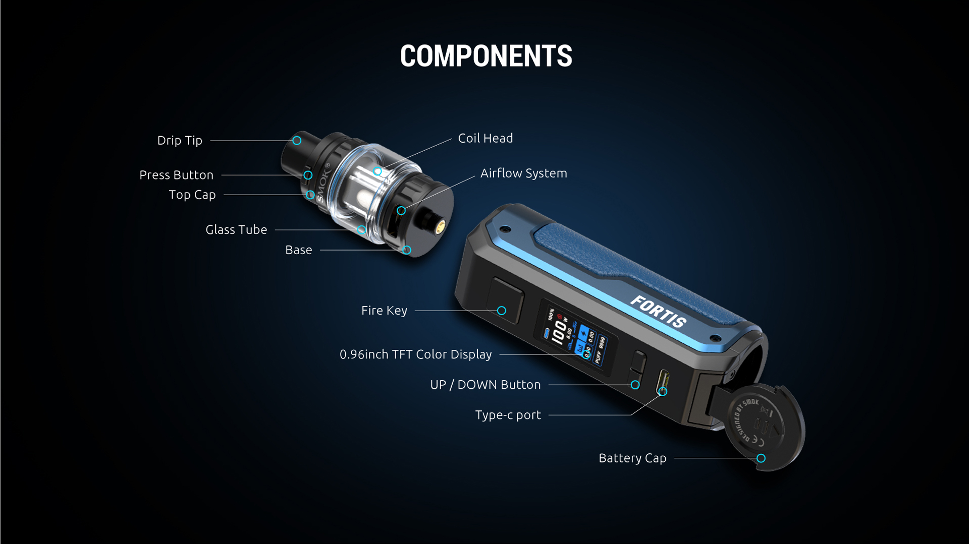 SMOK FORTIS SPECIFICATIONS