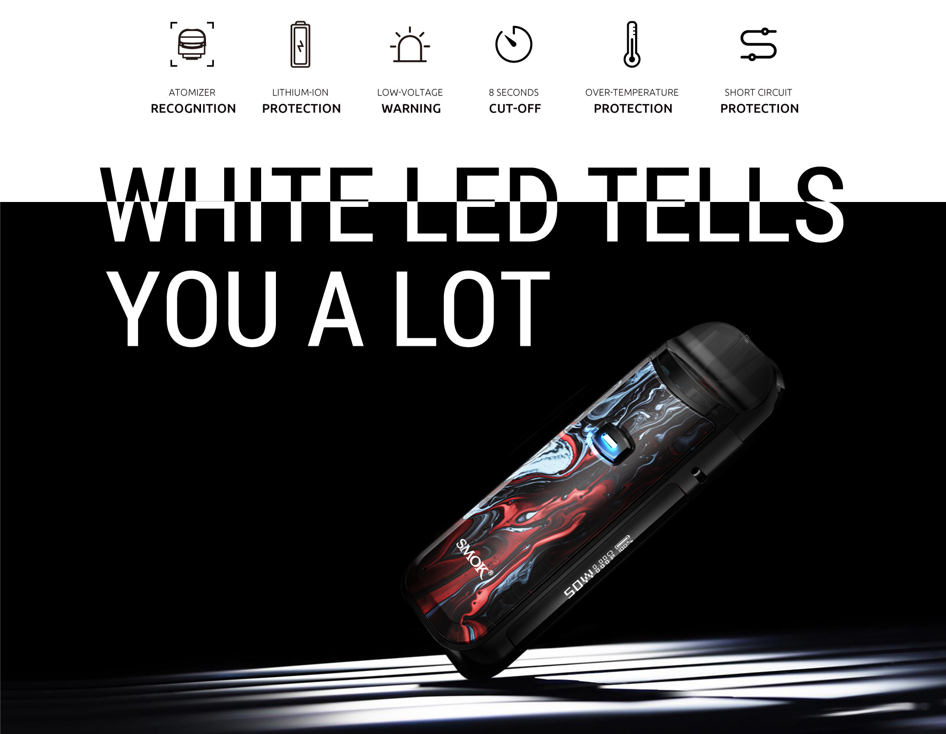 white led tells