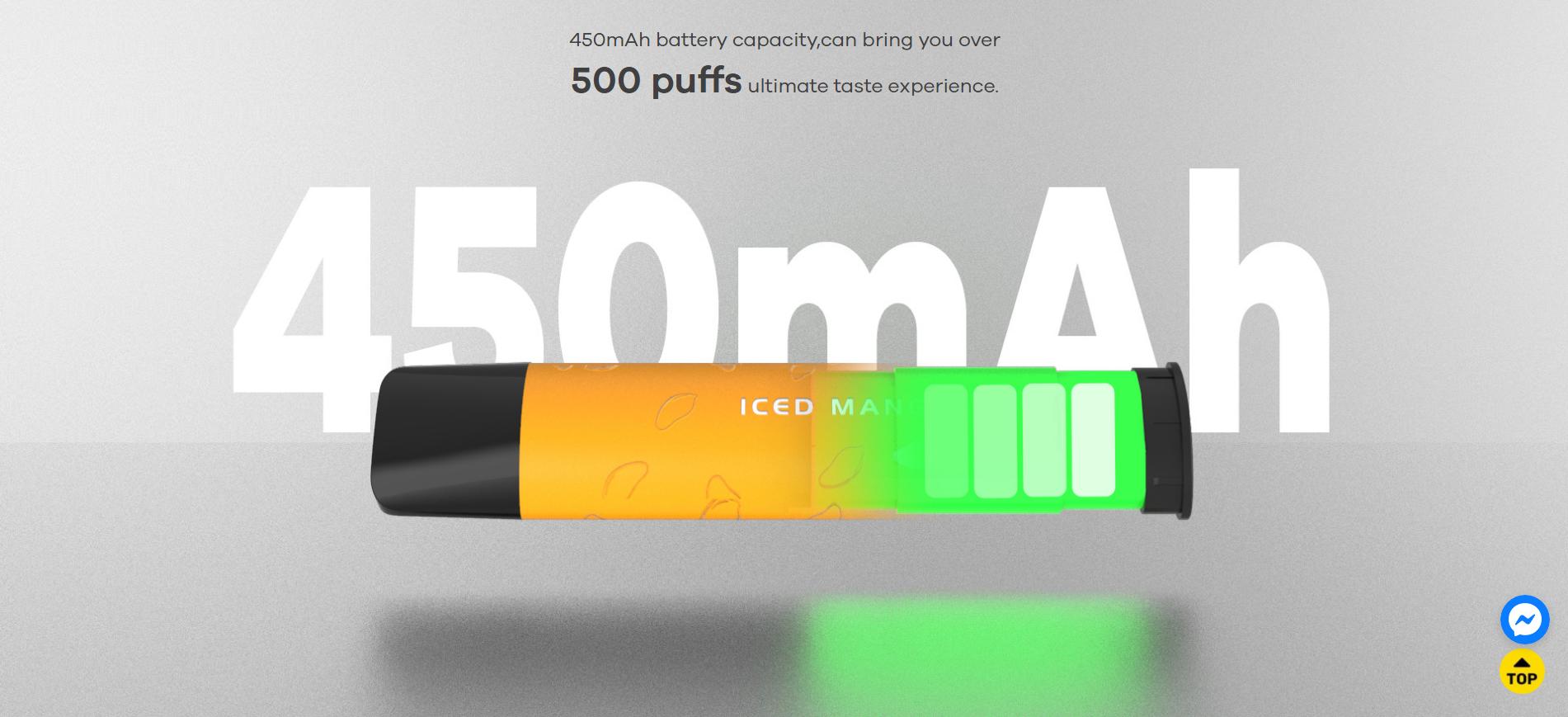 450 mAh disposibel vape